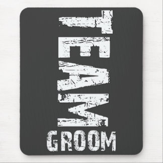 Team Groom Extra Large Grunge Text Mouse Pad