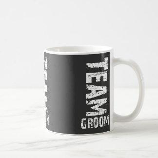 Team Groom Extra Large Grunge Text Mugs