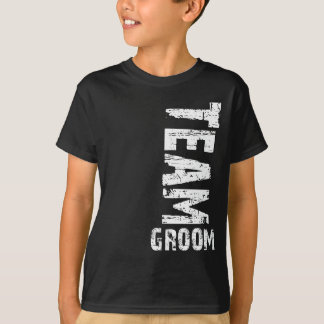 Team Groom Extra Large Grunge Text T-Shirt
