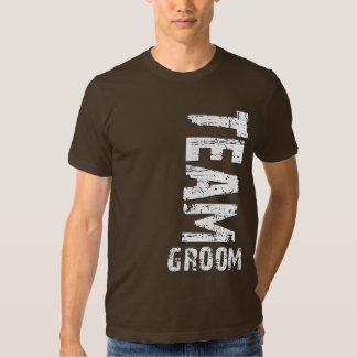 Team Groom Extra Large Grunge Text T Shirt