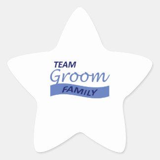 TEAM GROOM FAMILY STAR STICKER
