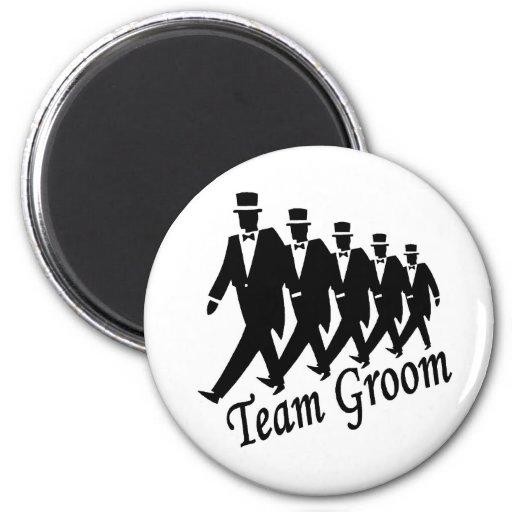 Team Groom Fridge Magnets