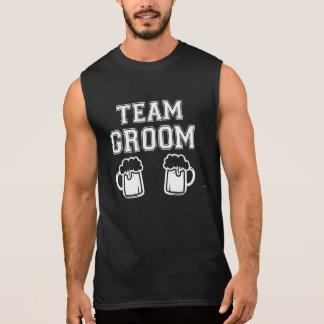 Team Groom funny Groomsman funny bachelor party Sleeveless Shirt
