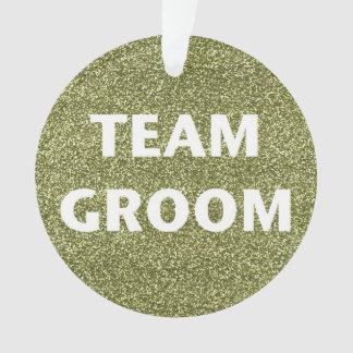 Team Groom (gold glitter) Ornament