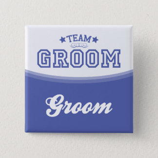 Team Groom-Groom (Stars) Button