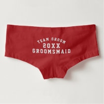 Team Groom Groomsmaid Monogram Wedding Underwear