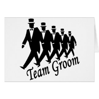 Team Groom Groomsmen Card