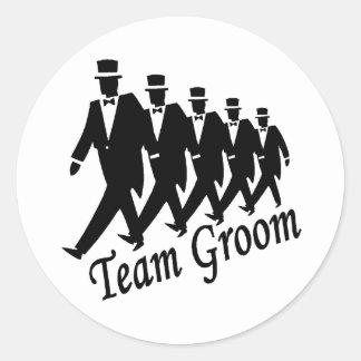 Team Groom Groomsmen Classic Round Sticker
