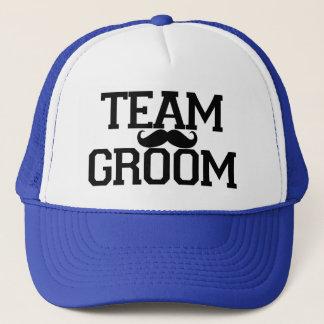 Team Groom Groomsmen mustache hat