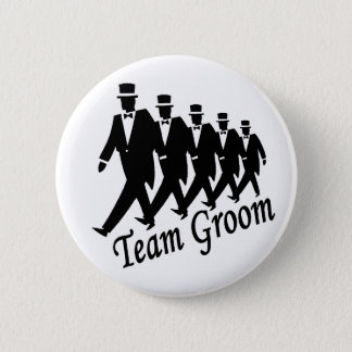 Team Groom Groomsmen Pinback Button