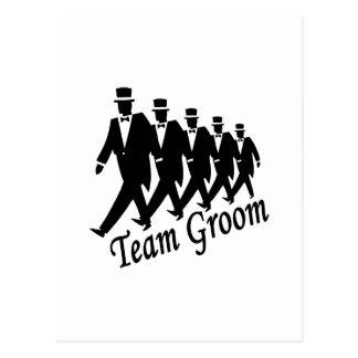 Team Groom Groomsmen Post Card