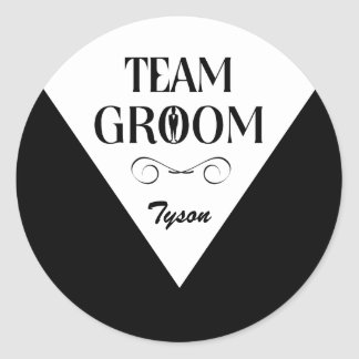 Team Groom - Groomsmen Stickers