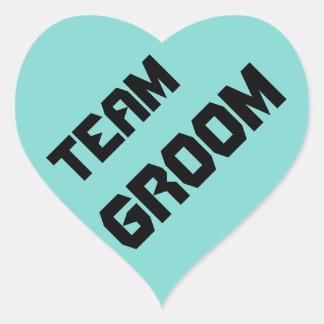 Team Groom - heart stickers