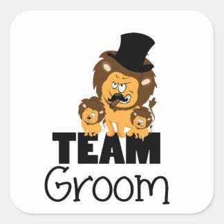 Team groom - lions square sticker