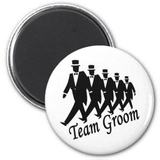 Team Groom (Men) 2 Inch Round Magnet