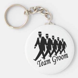 Team Groom (Men) Basic Round Button Keychain