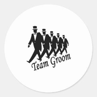 Team Groom (Men) Classic Round Sticker