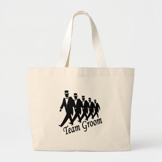 Team Groom (Men) Large Tote Bag
