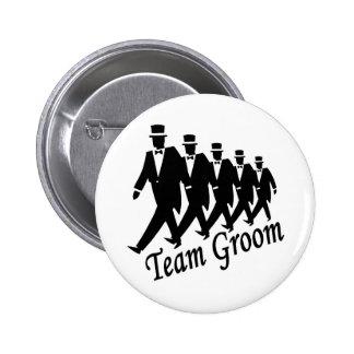 Team Groom (Men) Pinback Button