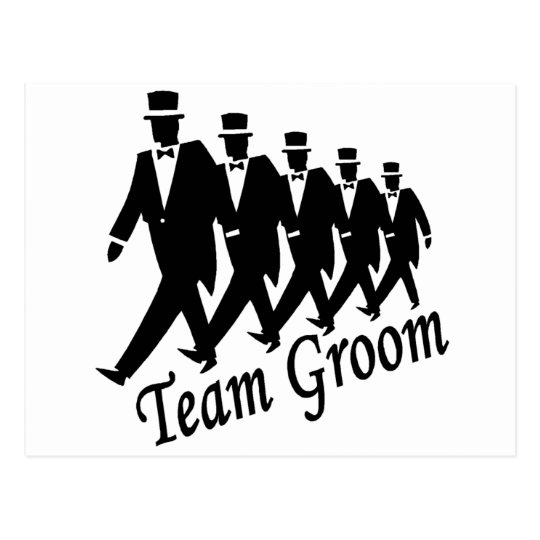 Team Groom (Men) Postcard