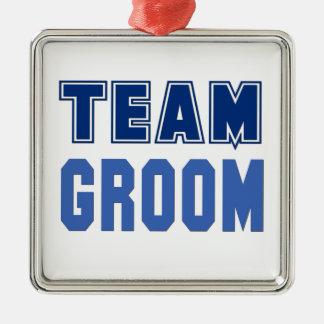Team Groom Metal Ornament