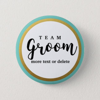 Team Groom Modern Wedding Favors for Groomsmen Button