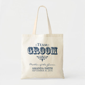 """TEAM GROOM"" Personalized Wedding Party Tote Bag"