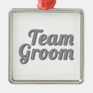 Team Groom Shadow Metal Ornament