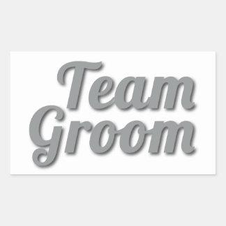 Team Groom Shadow Rectangular Sticker