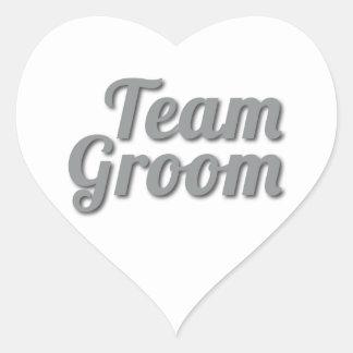 Team Groom Shadow Heart Sticker