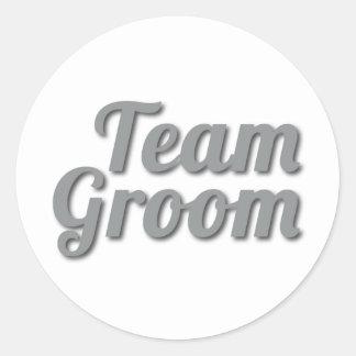 Team Groom Shadow Classic Round Sticker