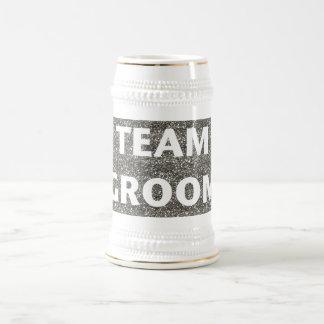 Team Groom (silver) Beer Stein
