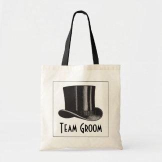 Team Groom Steampunk Top Hat Budget Tote Bag