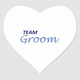 TEAM GROOM HEART STICKER