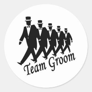 Team Groom Classic Round Sticker