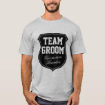 """Team Groom t shirts personalized with name<br><div class=""""desc"""">Team Groom t shirts 