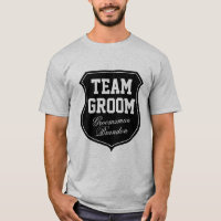 Team Groom t shirts personalized with name