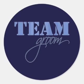 Team Groom theme Classic Round Sticker
