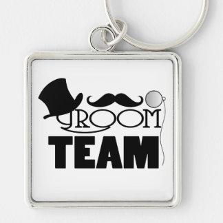 Team Groom - Top hat, monocle Key Chains
