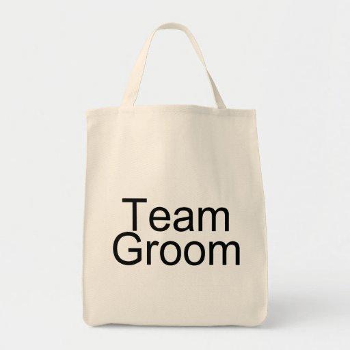 Team Groom Tote Bags