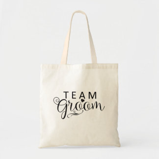 Team Groom Tote Budget Canvas Tote Bag