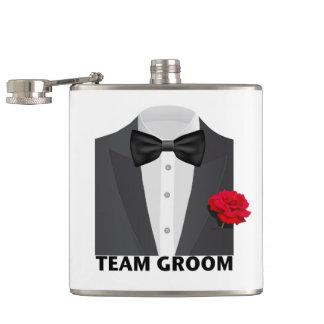 Team Groom (tux) Hip Flask