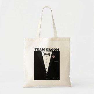 Team Groom (tuxedo) Tote Bag
