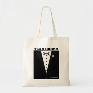 Team Groom (tuxedo) Tote Bag