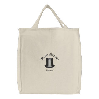 Team Groom - Usher Embroidered Tote Bag
