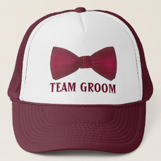 TEAM GROOM Wedding Groomsmen Bow Tie Bowtie Hat