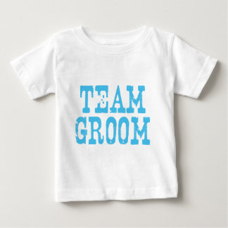 Team Groom Western Blue Baby T-Shirt