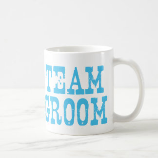 Team Groom Western Blue Coffee Mug