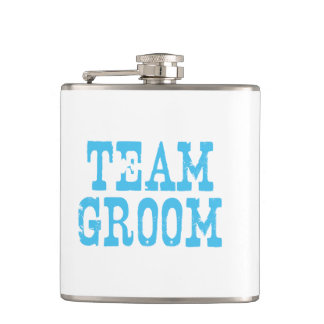 Team Groom Western Blue Flask