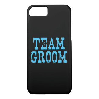 Team Groom Western Blue on Black iPhone 7 Case